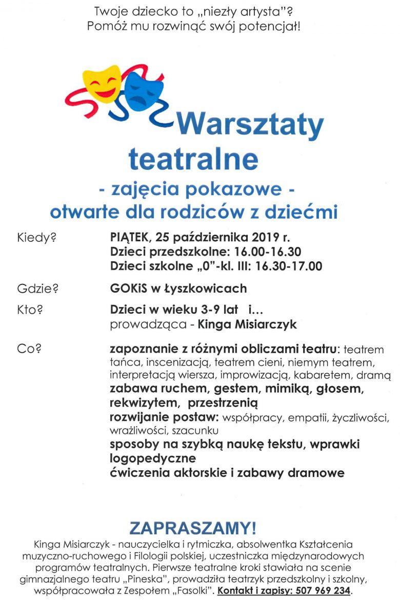 Warsztaty Teatralne Gmina łyszkowice